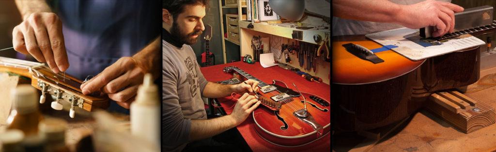 liutaio Vicenza laboratorio liuteria Onirica Guitars. Riparazione e modifica chitarre e strumenti a corda.